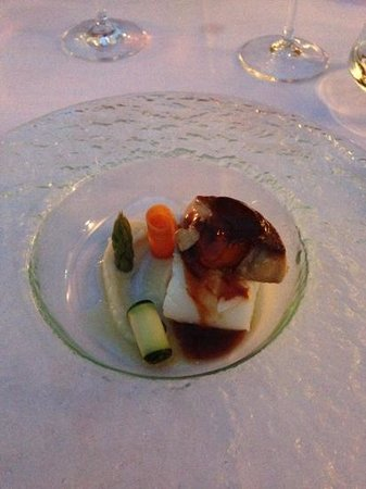 Cal Bisbe Restaurant: cod and fois gras