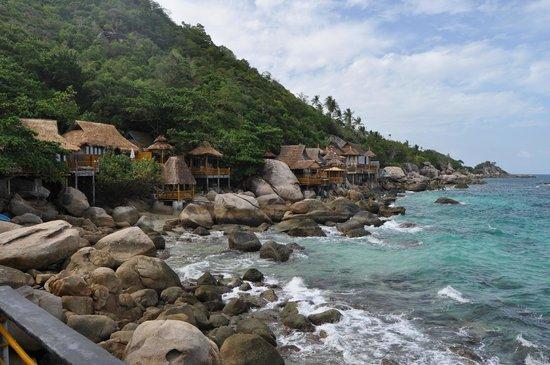 Koh Tao Bamboo Huts : vue de la terrasse du BB5