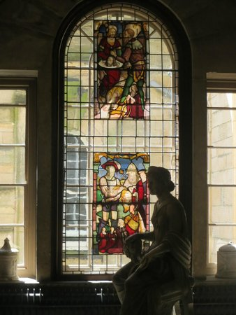 Castle Howard: Stained glass at the end of a corridor