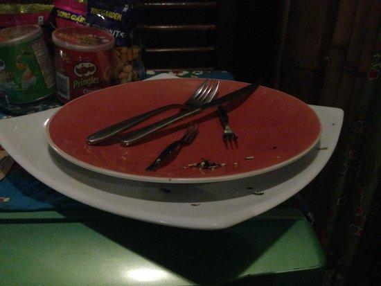 Koh Tao Bamboo Huts: le rat n'a pas hésité à laisser toutes sortes de choses dans nos assiettes