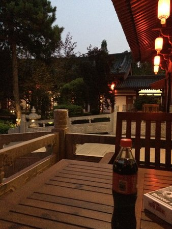 Tang Dynasty Art Garden Hotel: Deck Outside our Room