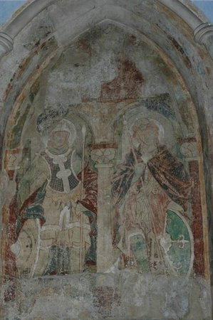 Saint Gereon's Basilica : Damaged Medeaval Painting