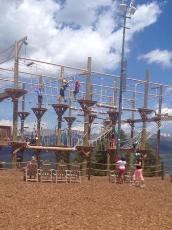 Vail Mountain Resort: Ropes course (hardest)