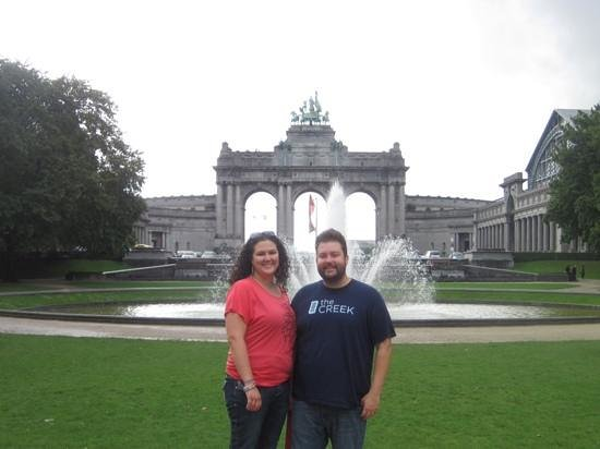 Parc du Cinquantenaire: DH and I enjoying the view