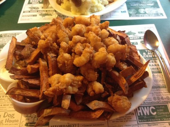 Houlton, ME: Haddock nuggets and shrimp combo with sweet potato fries