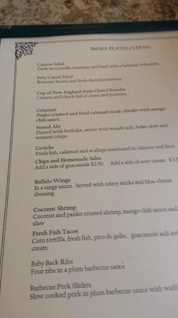 Pioneer Inn Grill and Bar: Menu