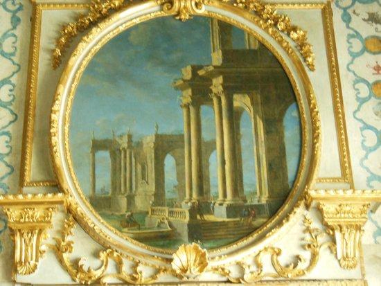 Villa della Regina : appartamento della Regina anticamera verso Ponente-sovraporta