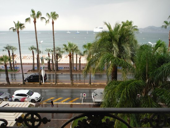 InterContinental Carlton Cannes: View from balcony--even on a rainy day, it's beautiful