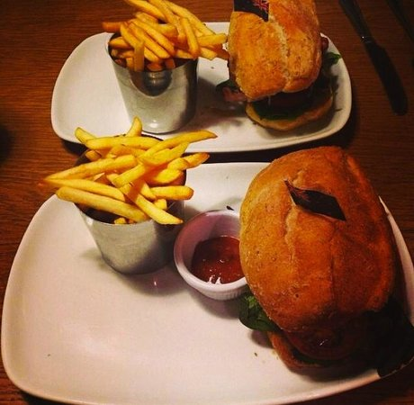 The Outback Restaurant: Both Kangaroo burgers