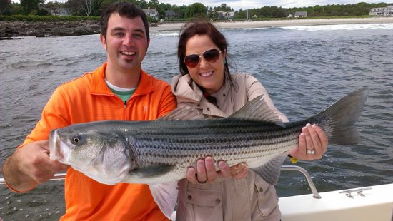 Cast-Away Fishing Charters: Nice Striper!
