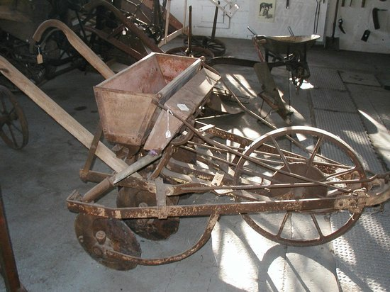 James Madison Museum: Horse-drawn Cultivator/Seeder.