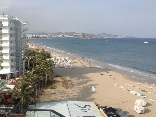 Hard Rock Hotel Ibiza: view from our balcony