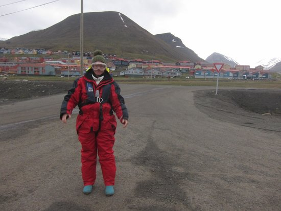 Spitsbergen, Norwegen: the suit keeps you warm and dry but the trip is cold
