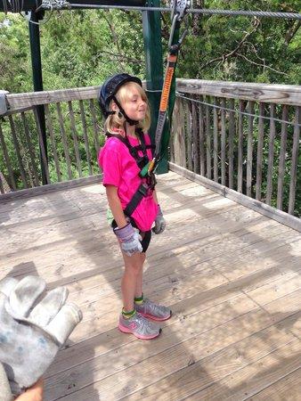 Bigfoot Zipline: She was so brave