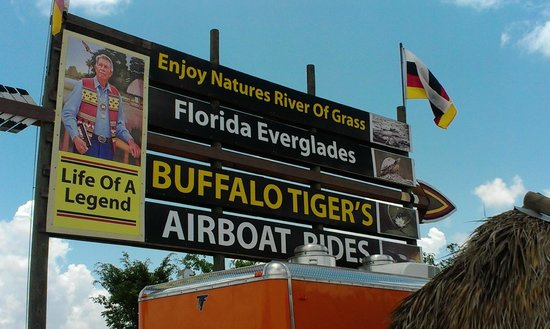 Buffalo Tiger's Airboat Tours: Look for the sign, best airboat ride.