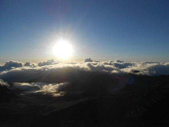 Haleakala Crater: Sunrise at 5;34 AM