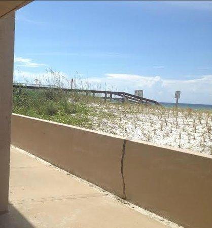 Hampton Inn Ft. Walton Beach: Bridge view from Room 148 patio.