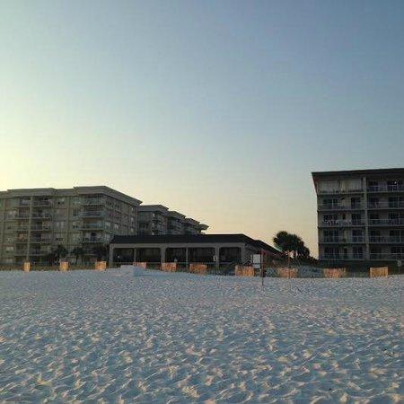 Hampton Inn Ft. Walton Beach : View of Hampton from the beach.