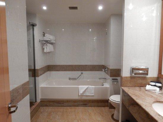 Hilton Paris Charles de Gaulle Airport: お風呂は、湯船と別にシャワー室でした。バスタブの方にはシャワーはありませんでした。