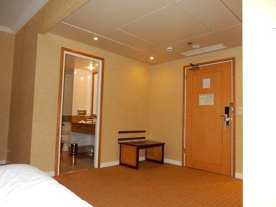 Hilton Paris Charles de Gaulle Airport : 部屋に入ると体操できるぐらいのスペースが有りました。
