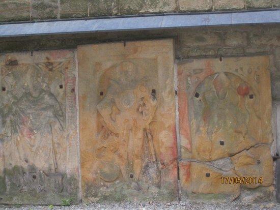 Thuringian Woods: Wandmalerei im Klostergang