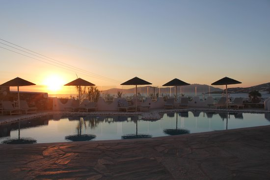 Ilio Maris Hotel : the sunset