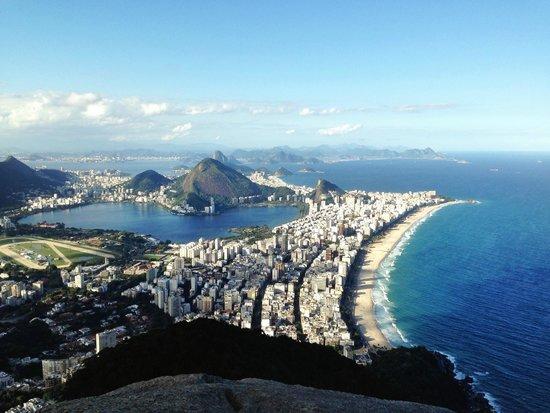 Morro Dois Irmaos: Vista do topo!
