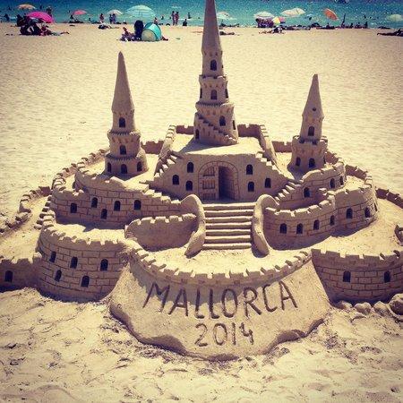 Un travail de titan sur la plage. - Picture of Platja de Palma, Majorca - Tri...