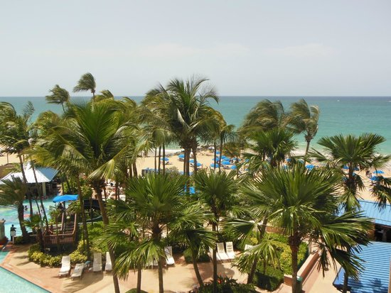 San Juan Marriott Resort & Stellaris Casino: Hotel room view - considered an ocean view room