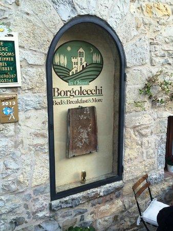 Borgo Lecchi B&B: Sign