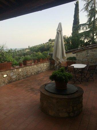 Borgo Lecchi B&B : Our room's terrace