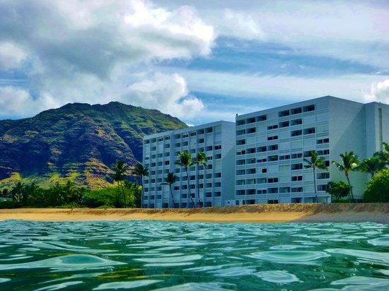Makaha Beach Cabanas From The Water