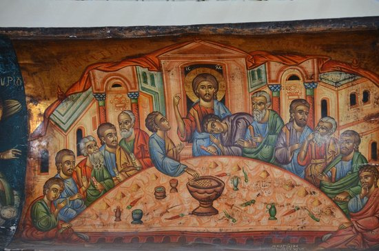 Niko's Taverna : Wall hanging of Christ