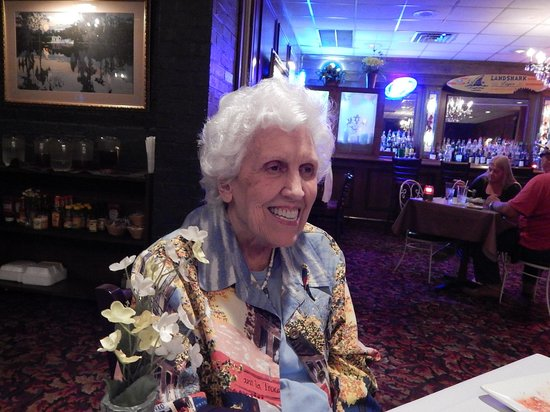 Johnny Cace's Seafood & Steak House: Our guest / host, enjoying her meal