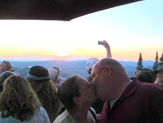 Hazie's: Sunset 32nd Anniversary kiss