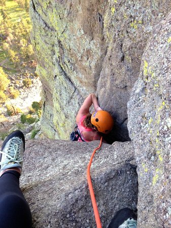 Devils Tower Lodge: Climbing the Durrance Route