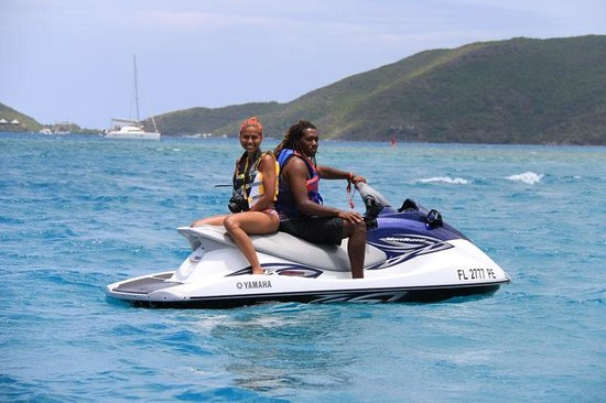 Blue Rush Water Sports And Jet Ski Rentals Inc. : Out on the Water with my Tour Guide, Josh!