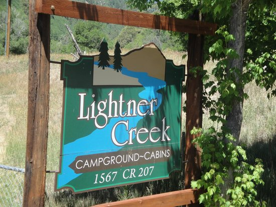 Lightner Creek Campground: sign