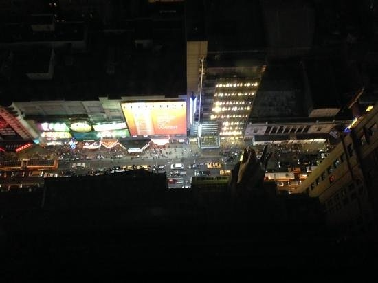 Hilton Times Square: view from room 4403