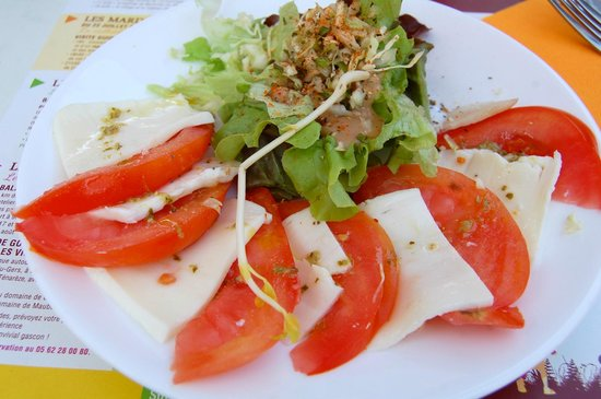 Auberge de Fources: Salade tomate mozzarella