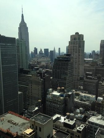 Hilton Times Square: view from top floor