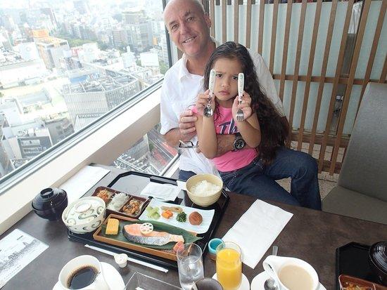 Shibuya Excel Hotel Tokyu: Petits déjeuners au 25ème étage.