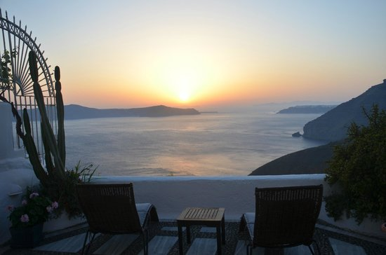 Porto Fira Suites: View from the honeymoon suite - paradise!