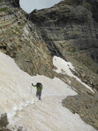 Valle de Pineta: The snow traverse