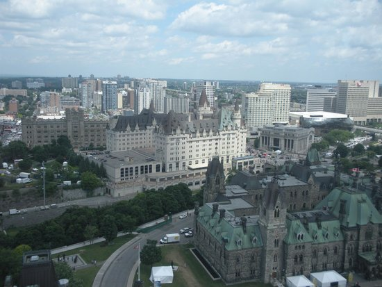 Peace Tower: Ottawa from above