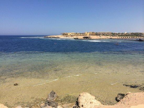 Iberotel Coraya Beach Resort : Across the bay to the other resorts.