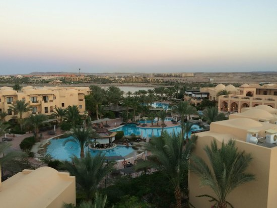 Steigenberger Coraya Beach : View from the tower is a must! Across the main pool area