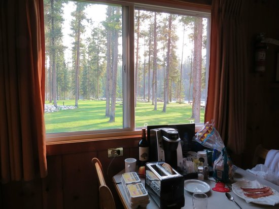 Becker's Roaring River Chalets: view from kitchen