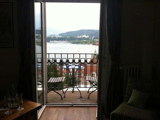 Art Deco Hotel Montana Luzern : room balcony