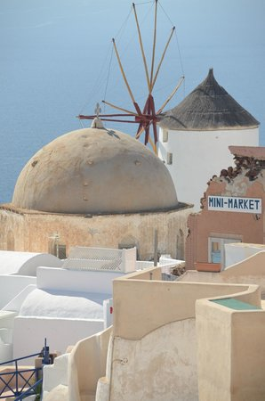 Sunset in Oia: VIew from our table